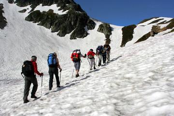 groupe sur le glacier (réf mb23)