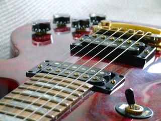 red guitar details