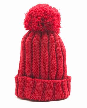 red woollen cap
