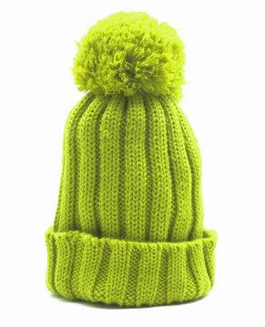 green knitten woollen cap