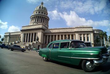 Garden Poster Cars from Cuba havana street
