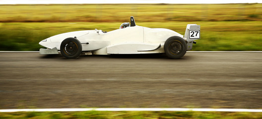 Tuinposter Snelle auto s f1600 grand prix motorsport racing