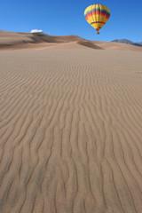 balloon over dunes