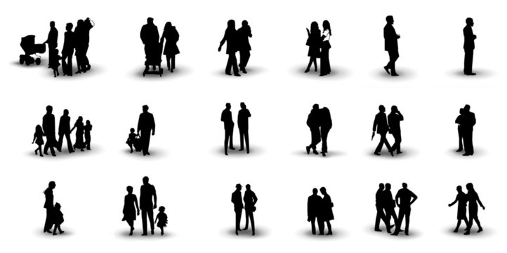 people silhouette 3