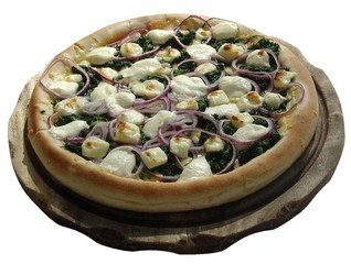 pizza spinat
