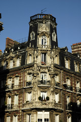 france, paris: old building in the xv district