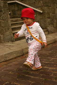 marching toddler