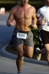 male runner abs