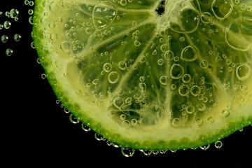 lemon on sparkling water