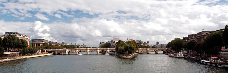 "france, paris: panorama of ""ile de la cite"""