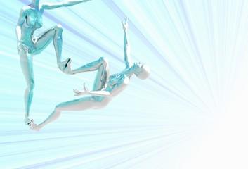 platinum girl climbing