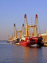 fischkutter im hafen von breskens (nl)