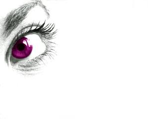 mirada violeta mujer