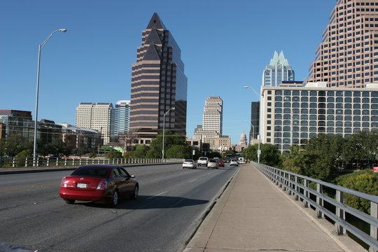 congress avenue at the bat bridge in austin, texas