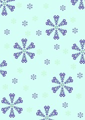 christmas - blue snow flakes background