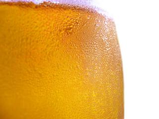 verre de biere en gros plan