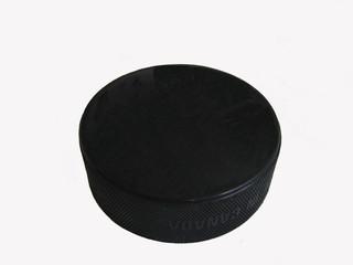 blank hockey puck