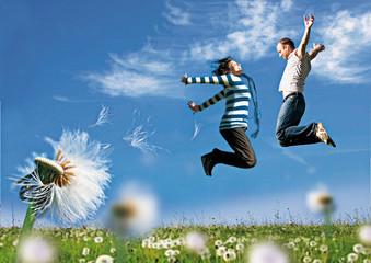 jump together