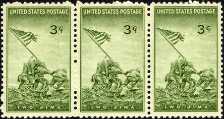 iwo jima 1945 us stamp