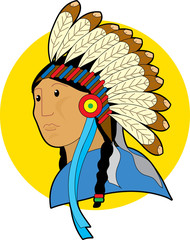 Poster Indiens indian chief