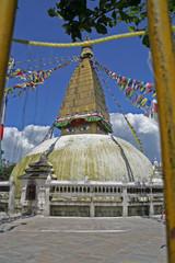 nepal, chabahil stupa