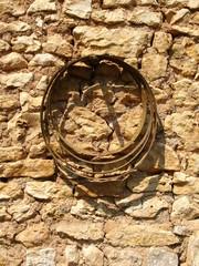 mur de pierre avec