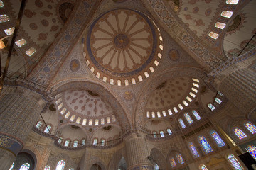the blue mosque interior