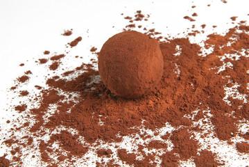 Fototapeta truffe chocolatees obraz