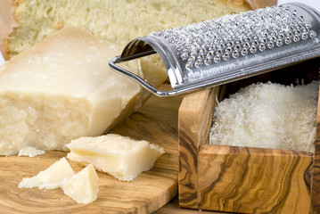 grated hard cheese