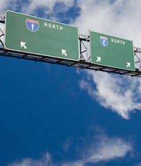 blank freeway double sign