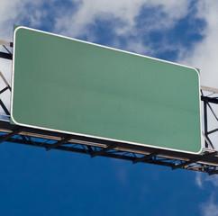 blank freeway sign 4