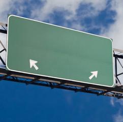 blank freeway sign 2