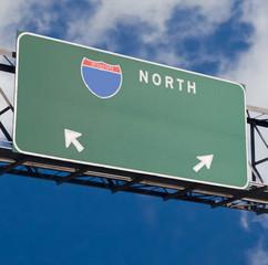 blank freeway sign 3
