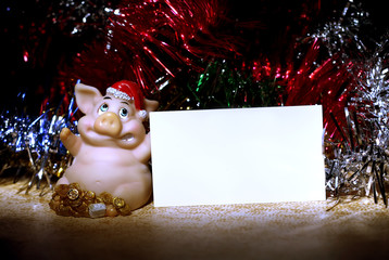 pig with card