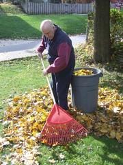 grandfather yard work