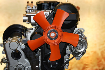 gas engine fan