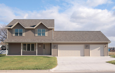 two-story ranch home