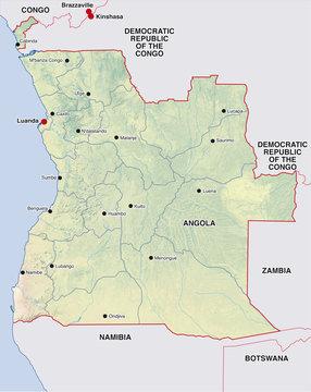 angola landkarte map