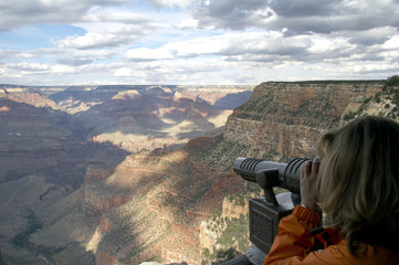 ausblick in grand canyon von bright angel lodge
