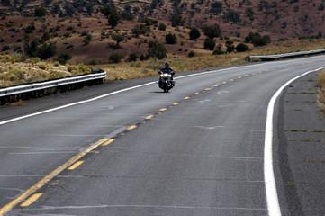 motorrad auf dem highway in den usa