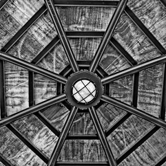 architecture abstract-spider web gazebo roof