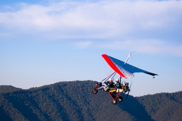 microlight aircraft ascending