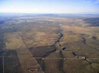 aerial view of a high altitude plateau