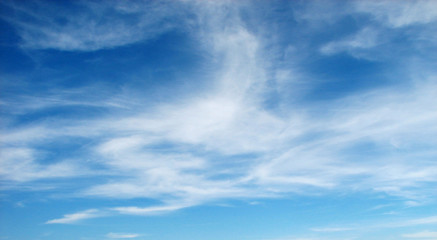 peaceful blue sky with clouds