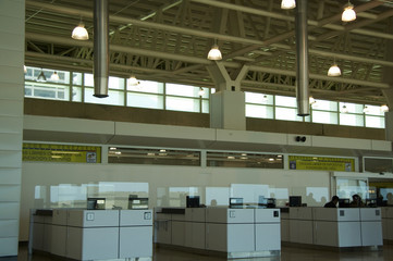 registration gate in airport
