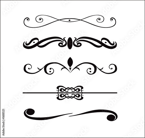 Abstract design elements borders stock photo and royalty free images on pic 1688521 - Cenefas para dibujar ...