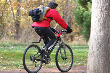 cyclist close up