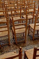 chaises de paille