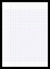 Feuille Quadrillée Pixel Art à Imprimer