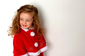 christmas girl in fur